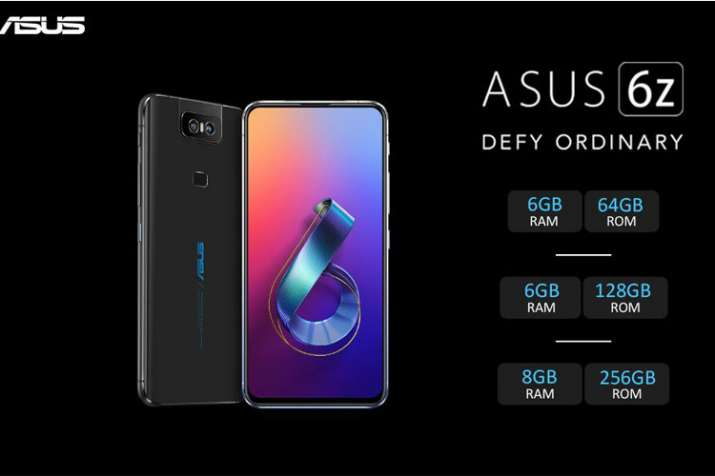 Asus 6Z with 48MP + 13MP Flip Camera and 5000mAh battery launched in India