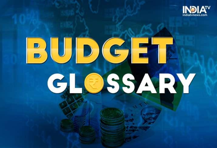 Budget glossary