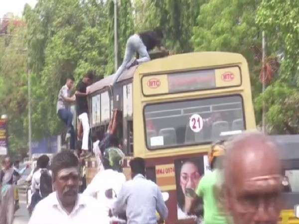 College students fall from bus roof in Chennai | India News – India TV