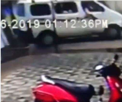 Video: 3 kids fall from a moving school bus in Ahmedabad