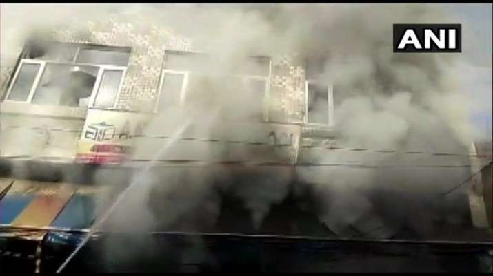 India Tv - Fire at school in Faridabad