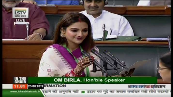 Trinamool Congress MPs Nusrat Jahan, Mimi Chakraborty take