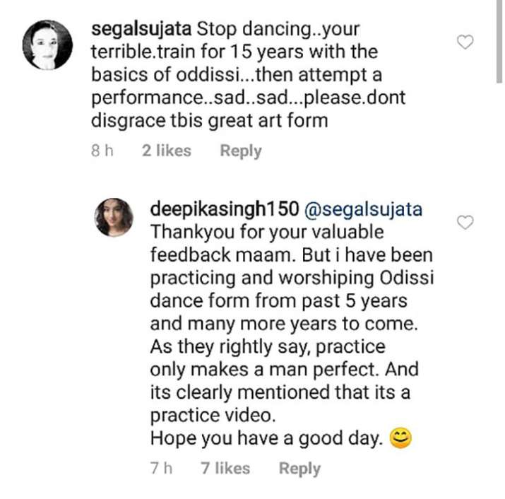 India Tv - Deepika Singh hits back at troll who asked her to 'stop dancing, you're terrible'