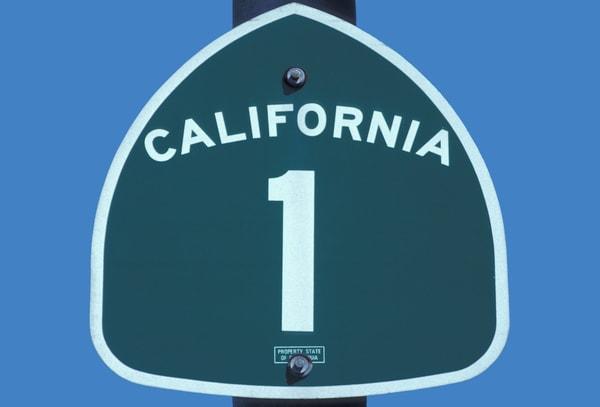 India Tv - Highway 1 sign,California,USA