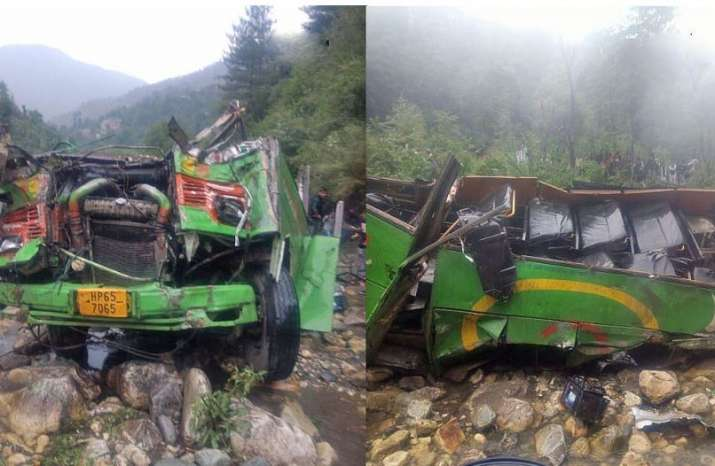 himachal bus accident, bus falls into gorge,