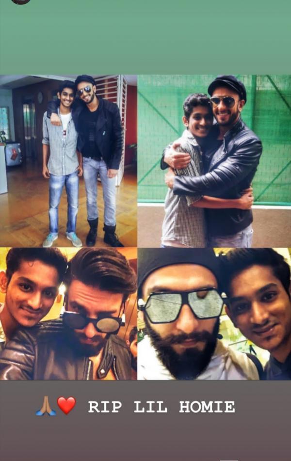 India Tv - Ranveer Singh pays condolences on his fan's death