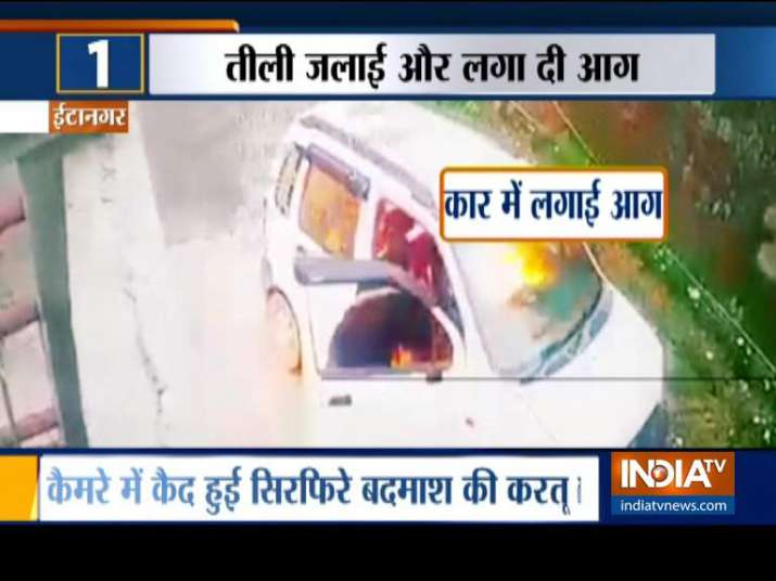 Miscreant sets car on fire outside BJP MP's residence