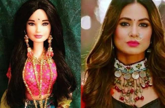 India Tv - Hina Khan doll