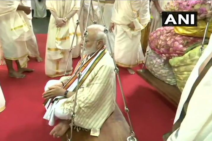 India Tv - PM Narendra Modi in Guruvayur temple