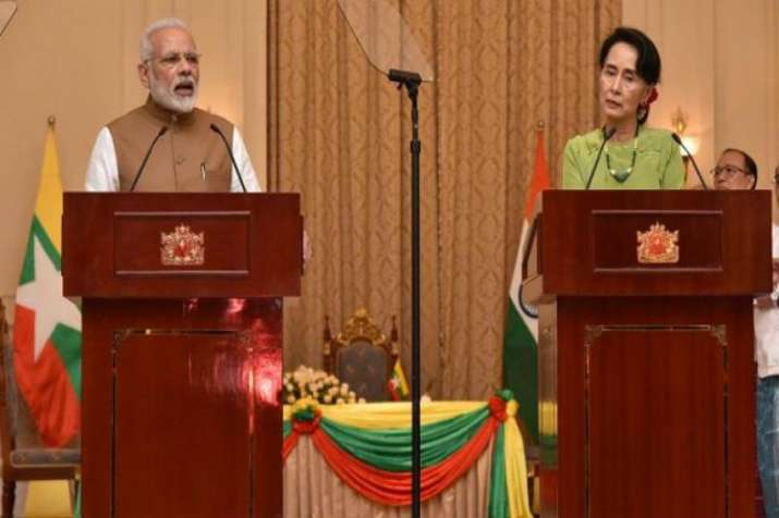 PM Modi with Myanmar's state counsellor Aung San Suu Kyi
