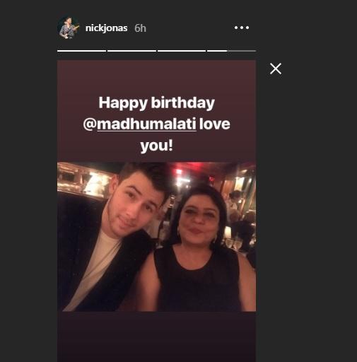 India Tv - Nick Jonas wished Priyanka Chopra's mother Madhu Chopra, a very happy birthday!