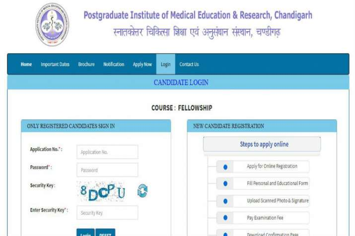 PGIMER Chandigarh Admit Card 2019 released online  Direct link to