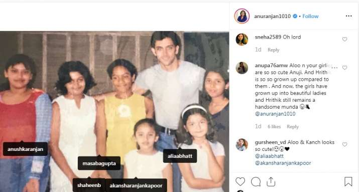 India Tv - Alia Bhatt and Hrithik Roshan's childhood picture is cute and adorable.