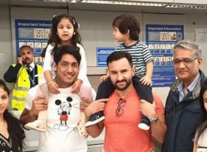 Saif Ali Khan, Kareena Kapoor Khan and son Taimur pose for selfies with fans in London