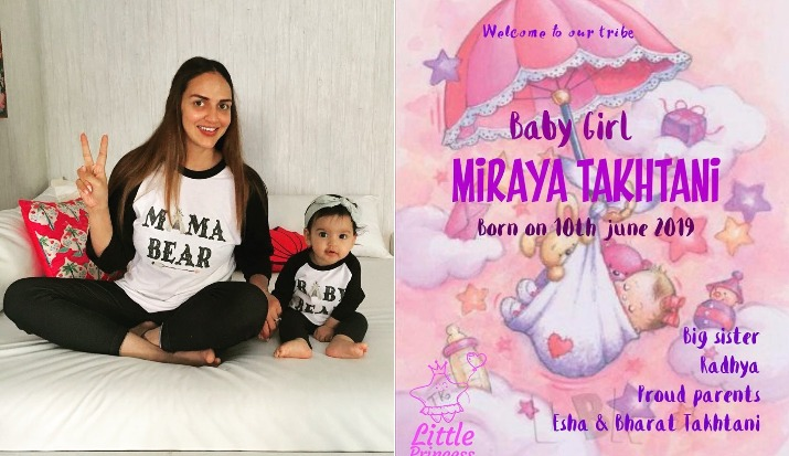 Esha Deol and Bharat Takhtani welcome second child, couple blessed with a baby girl Miraya Takhtani