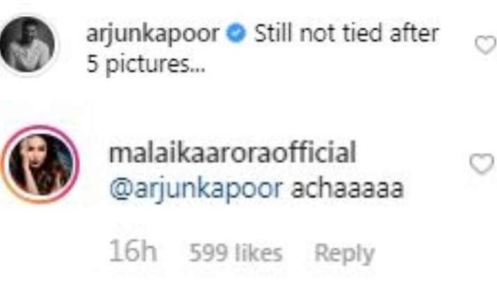 India Tv - Arjun Kapoor's hilarious comment on Malaika Arora's latest post will make your day