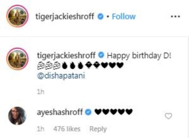 India Tv - Tiger Shroff wishes birthday girl Disha Patani with throwback video