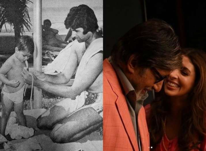 Amitabh Bachchan shares cute 'Before & After' picture featuring daughter Shweta