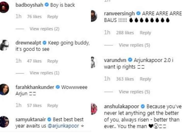 India Tv - Comments on Arjun Kapoor's Instagram post