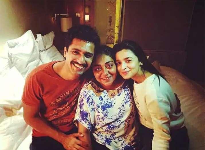 India Tv - Vicky Kaushal with Alia Bhatt and Meghna Gulzar