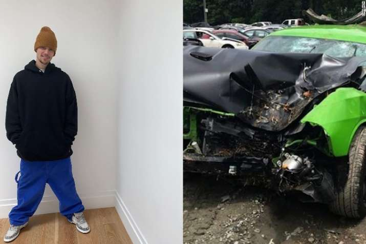 Justin Beiber's car met with an accident in California