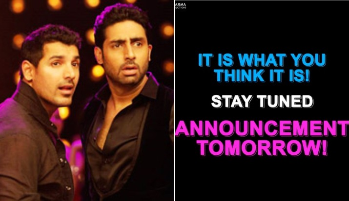 Is Karan Johar going to announce Dostana 2? His latest Tweet suggests so