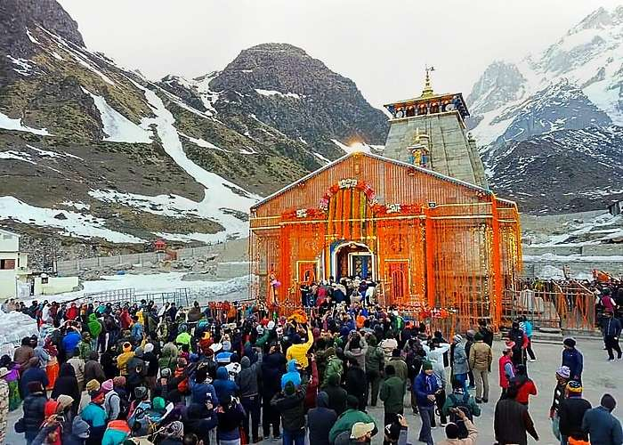 Kedarnath, located at a height of 11,755 feet in the