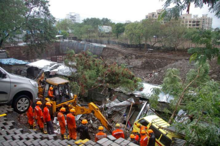 NDRF team during the rescue operation