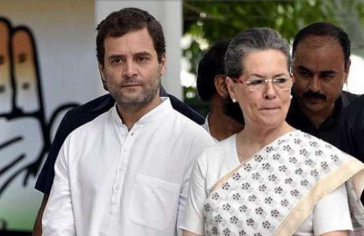 Rahul Gandhi along with Sonia Gandhi