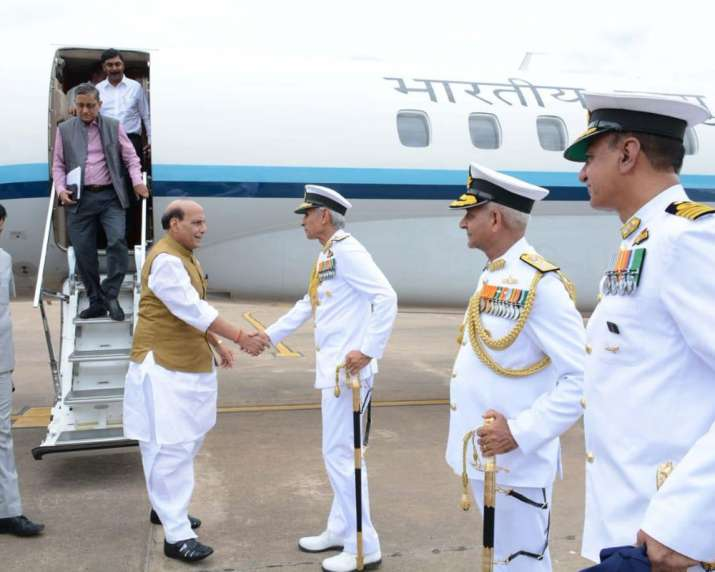 Defence Minister Rajnath Singh makes maiden visit to