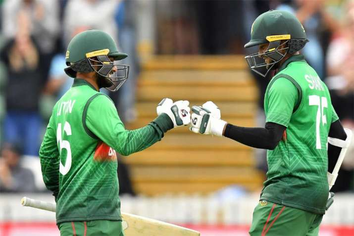 Shakib and Liton's unbeaten 189-run stand helps Bangladesh