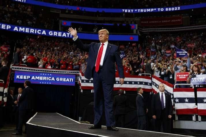 946ac7ba5 Representative News Image Image Source : AP. US President Donald Trump in  Florida rally. US President Donald Trump formally launched his 2020 re- election ...