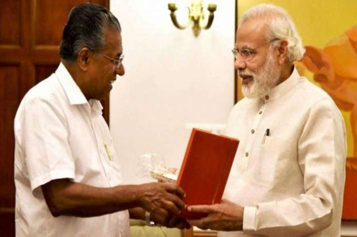 Kerala Chief Minister Pinarayi Vijayan and Prime Minister