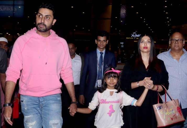 India Tv - Latest News BachchanandAishwarya Rai returns back with Abhishek and Aaradhya