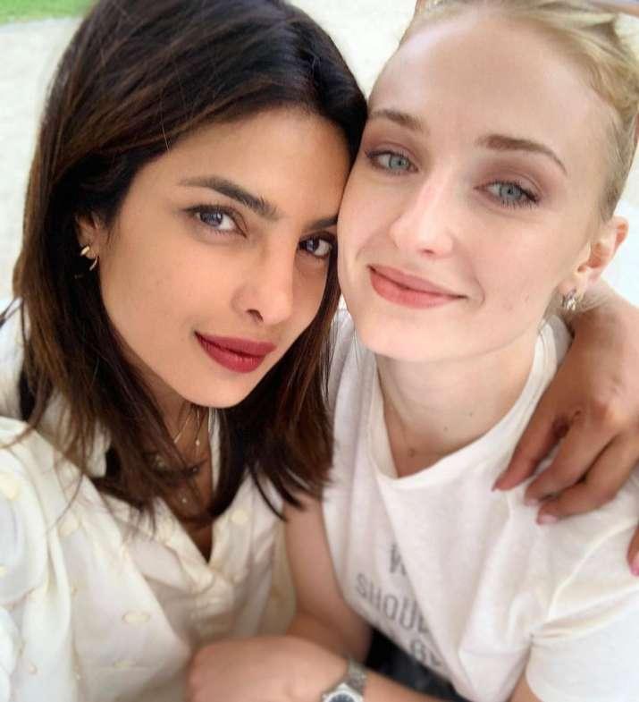 India Tv - Priyanka Chopra with sister-in-law Sophie Turner.