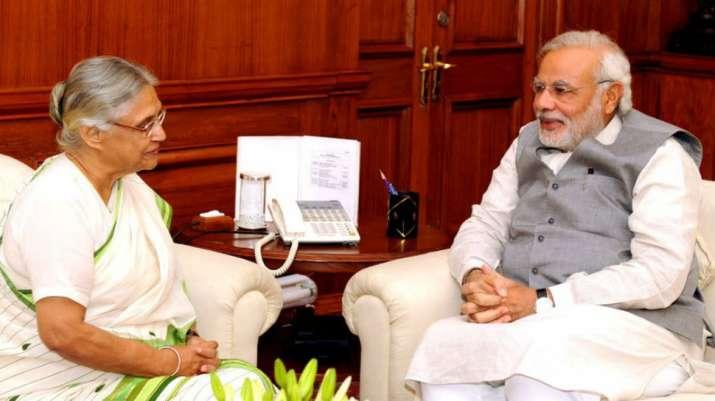 PM Modi visits Sheila Dikshit's residence, condoles her