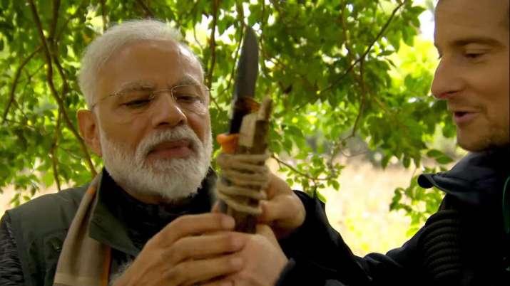 India Tv - PM Modi in Man Vs Wild,Narendra Modi surprise guest on Bear Grylls' Man vs Wild