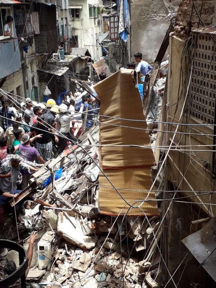 Kesarbai building collapses in Mumbai's Dongri