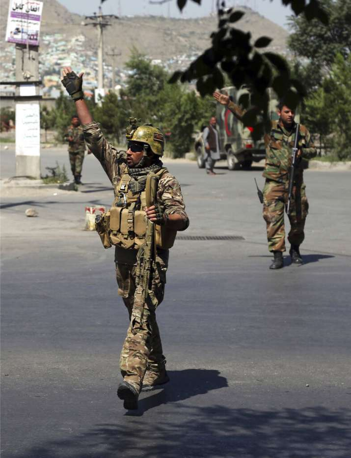 India Tv - Afghan security forces arrive at the site of an explosion in Kabul, Afghanistan, Monday, July 1, 2019. A powerful bomb blast rocked the Afghan capital early Monday, rattling windows, sending smoke billowing from Kabul's downtown area and wounding dozens of people.