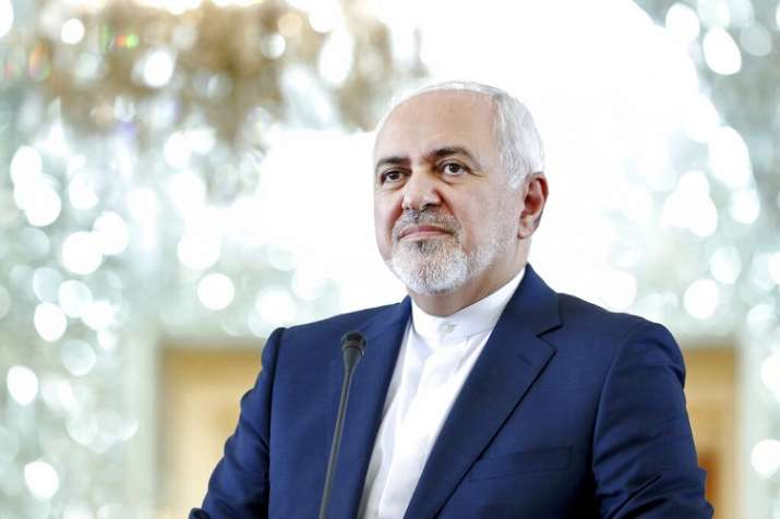 Iranian Foreign Minister Mohammad Javad Zarif speaks during