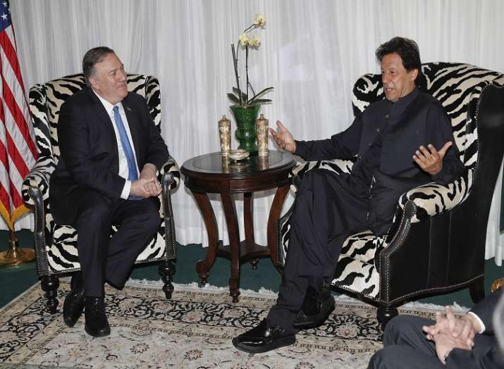 Secretary of State Mike Pompeo with Pakistani Prime