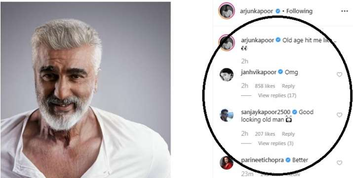 India Tv - Janhvi Kapoor leaves a comment on Arjun Kapoor's latest photo