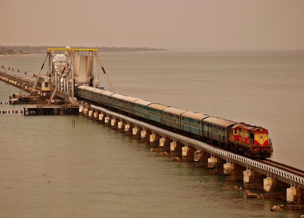 Dredger runs aground near Rameswaram's iconic Pamban