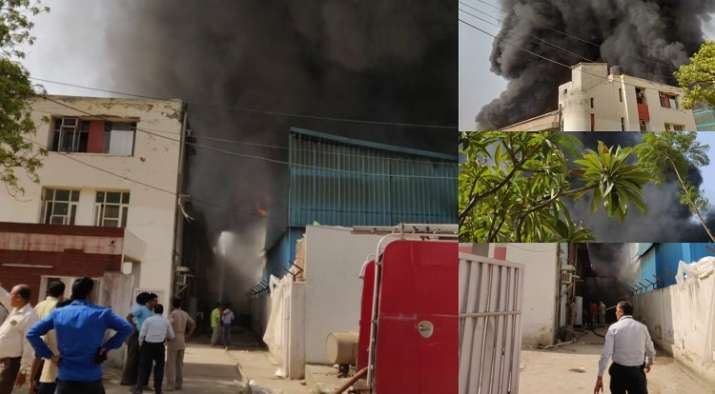 Breaking: Massive fire breaks out at Noida Special Economic