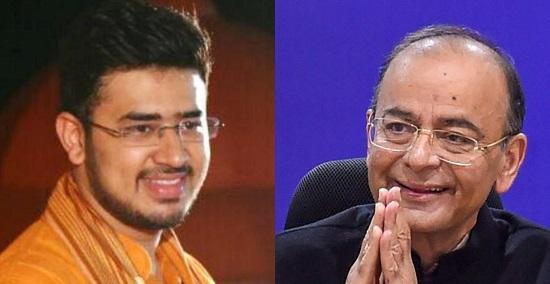 Jaitley's tips to 'fanboy' Tejasvi Surya: Humorous one