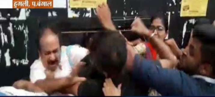 Bengal college teacher pushed, punched following tiff over