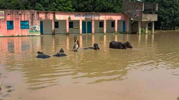 In Samastipur, according to reports, a piece of road