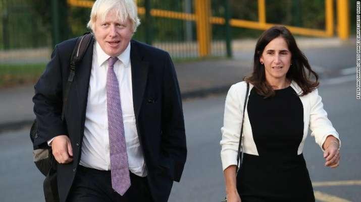 Boris Johnson with his ex-wife Marina Wheeler