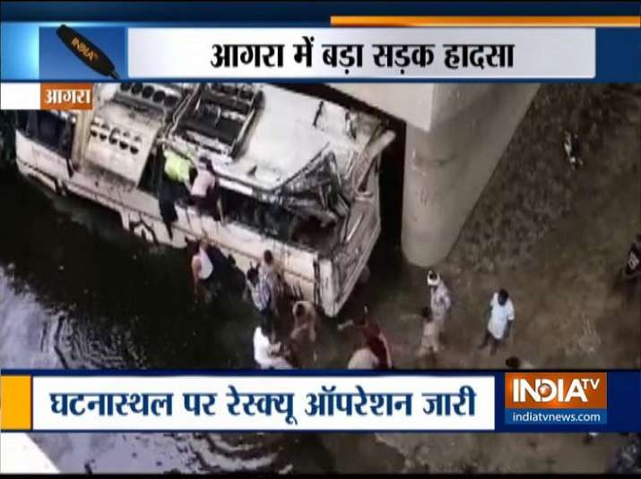 29 killed as Delhi-bound bus falls into canal on Lucknow