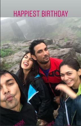 India Tv - Rhea Chakraborty celebrates birthday with rumoured boyfriend Sushant Singh Rajput in Ladakh